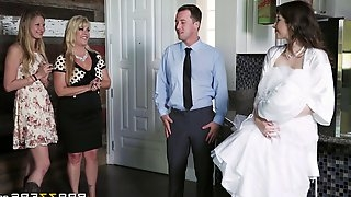 The most beautiful bride performs a mind-blowing cowgirl cock ride