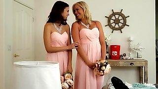 Mia Malkova and Riley Reid fucked by the groom