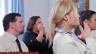 Submissive bride pounded after wedding