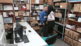 Curvy Shoplifter Amilia Onyx gets fuck by LP Officers cock