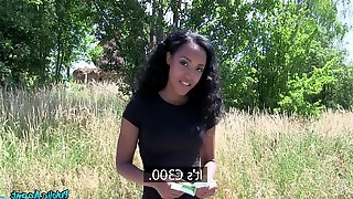 Ebony girl adores when her friend cum on her butt after outside fuck