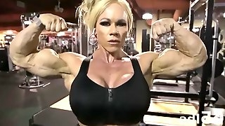 Aleesha ripped muscle