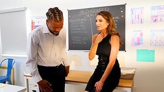Evil interracial fucking adjacent to reconcile mature tutor Silvia Saige