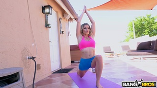 Handsome MILF Cory Chase does naked yoga and gets fucked overwrought the neighbor