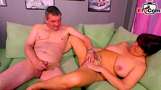 German horrific obese housewife try porn