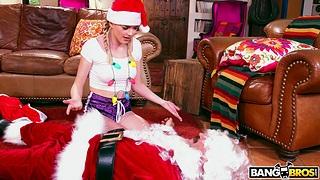 Closeup video of naughty prop having a Christmas fuck - Anny Aurora