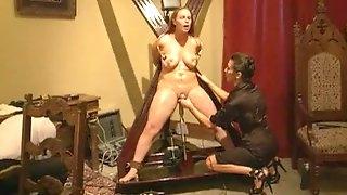 Amazingly Hot Blonde Brunette Get Their Doze Of BDSM Action