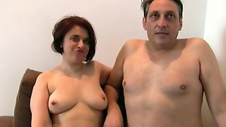 Kinky mature coupling shooting their first porn movie
